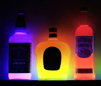 Glowing Bottles for Display Glowing Effects!