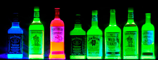 corona glowing bottle blacklight reactive uv neon great with a